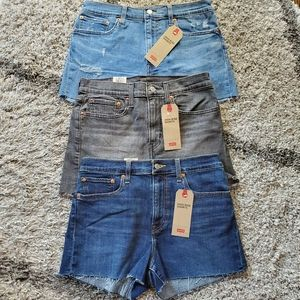 Lot Of Levi's High Rise Shorts Size 30